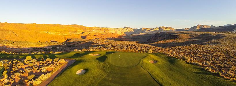 11 Green @ The Ledges Golf Club - St. George Utah Golf - Photo By - Brian Oar - @brianoar