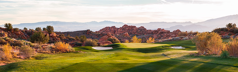 14 Green @ The Ledges Golf Club - St. George Utah Golf - Photo By - Brian Oar - @brianoar