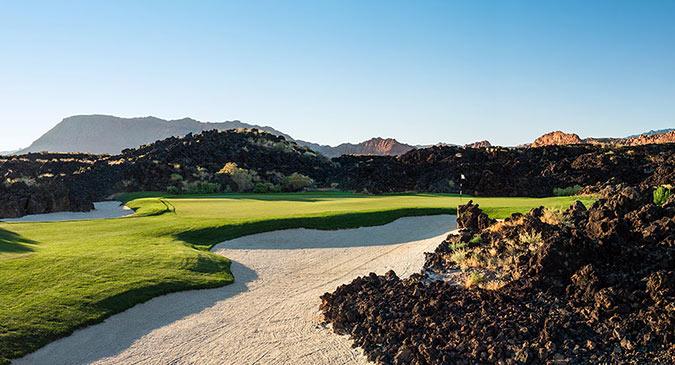 16 Green @ Entrada at Snow Canyon Golf Club - St. George Utah Golf - Photo By - Brian Oar - @brianoar