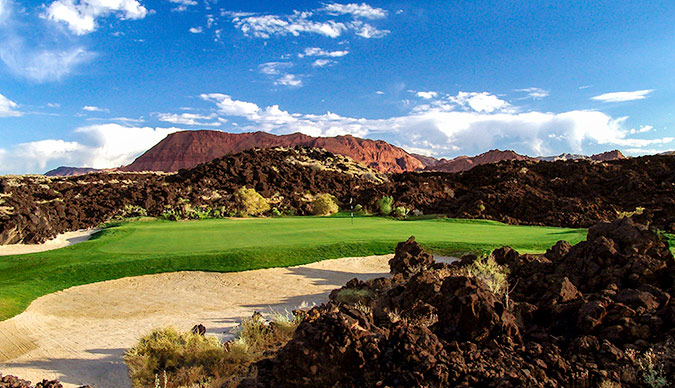 15 Green @ Entrada at Snow Canyon Golf Club - St. George Utah Golf - Photo By - Brian Oar - @brianoar