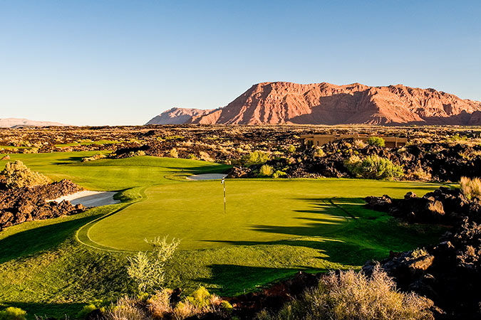 17 Green @ Entrada at Snow Canyon Golf Club - St. George Utah Golf - Photo By - Brian Oar - @brianoar
