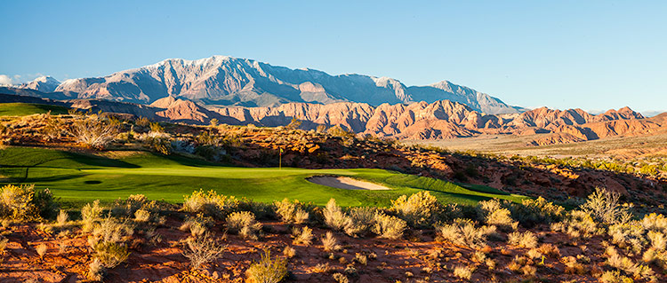 17 Green @ Green Spring Golf Course - St. George Utah Golf - Photo By - Brian Oar - @brianoar