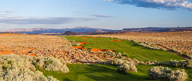 10 Tee @ Sand Hollow Golf Club - St. George Utah Golf - Photo By - Brian Oar - @brianoar