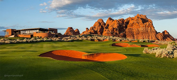 18 Green @ Sand Hollow Golf Club - St. George Utah Golf - Photo By - Brian Oar - @brianoar