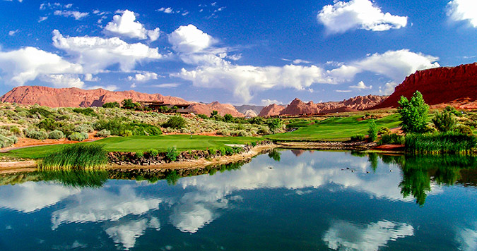 2 Green @ Entrada at Snow Canyon Golf Club - St. George Utah Golf - Photo By - Brian Oar - @brianoar