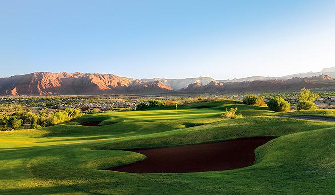 5 Green @ Sunbrook Golf Club - St. George Utah Golf - Photo By - Brian Oar - @brianoar