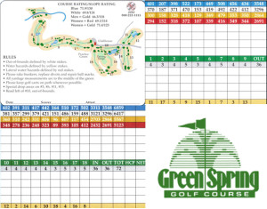 Green Spring Golf Course Scorecard | StGeorgeUtahGolf.com
