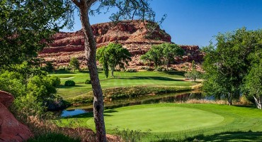 6 Green @ Red Hills Golf Course - St. George Utah Golf - Photo By - Brian Oar - @brianoar