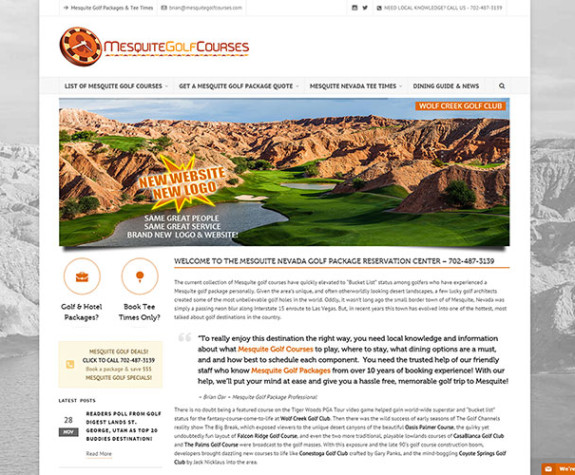 New MesquiteGolfCourses.com Website Launched!