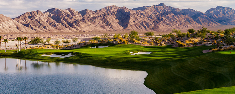 #17 Tee Coyote Springs Golf Club - Near Mesquite, Nevada - Photo by Brian Oar - All Rights Reserved
