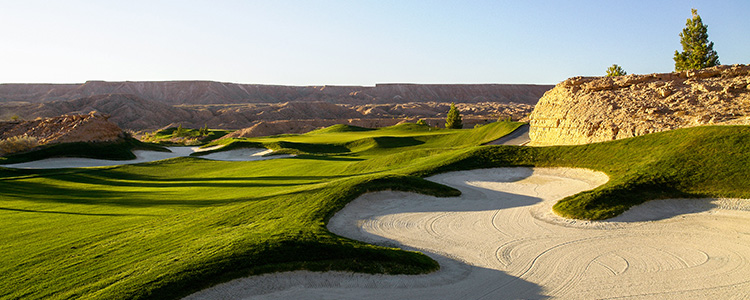 #1 Bunker Green Falcon Ridge Golf Course - Mesquite, Nevada - Photo by Brian Oar - All Rights Reserved