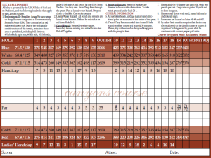 The Oasis Golf Club - Canyons Course Scorecard - MesquiteGolfCourses.com