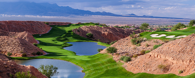 Overlooking Wolf Creek Golf Club - Mesquite, Nevada - Photo by Brian Oar - All Rights Reserved